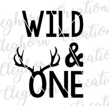 Load image into Gallery viewer, wild and one deer birthday svg