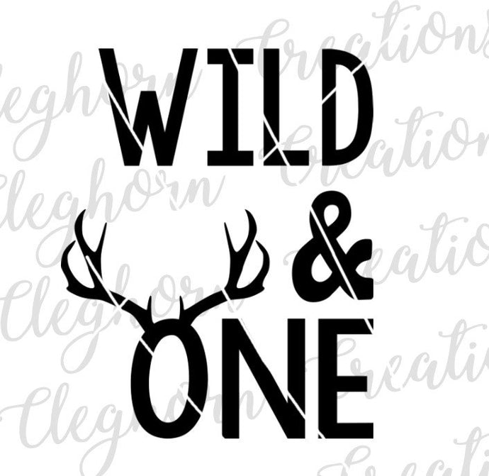 wild and one deer birthday svg