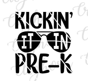 Kicking It In Pre-k Shirt SVG