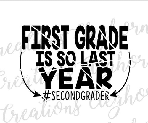 Second Grade Back To School SVG
