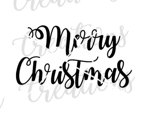 merry christmas svg handwritten script