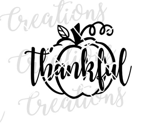 cute thankful pumpkin fall pumpkin decor thankful svg