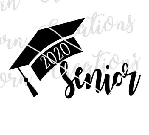 senior cap 2020 class of 2020 graduations svg cut file graduation gift congratulations grad