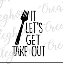 Load image into Gallery viewer, fork it let's get take out, funny kitchen svg