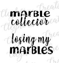 Load image into Gallery viewer, funny mommy and me shirts, marble collector, losing my marbles matching
