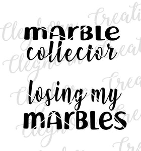 funny mommy and me shirts, marble collector, losing my marbles matching