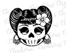 Load image into Gallery viewer, sugar skull candy skull svg printable adult coloring page mandala