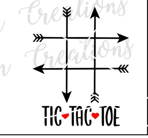 Tic Tac Toe Bag Valentine's Day Party Favor SVG