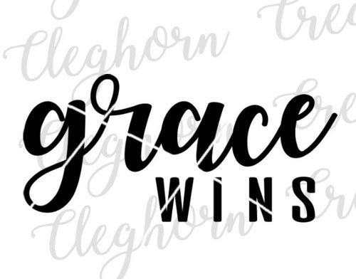 grace wins christian quote svg