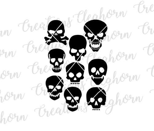 skull silhouette skull vector skull clipart day of the dead halloween skeleton svg
