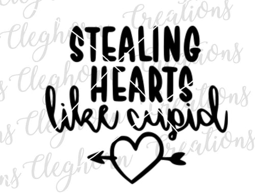 stealing hearts like cupid svg cut file