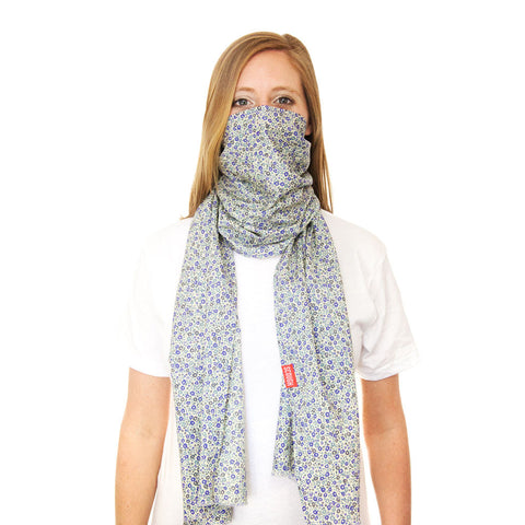 NIA SCOUGH - Liberty of London Purple and Blue Floral Lightweight Cotton Scarf