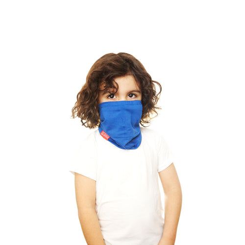 RYLEN KIDS SCOUGH - Blue Bamboo Neck Warmer Scarf