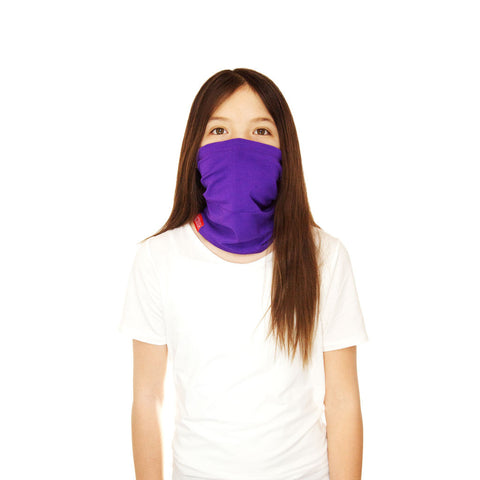 RYLEN KIDS SCOUGH - Purple Bamboo Neck Warmer Scarf