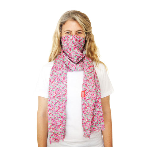ZOLA SCOUGH - Liberty of London Pink Floral Lightweight Cotton Scarf