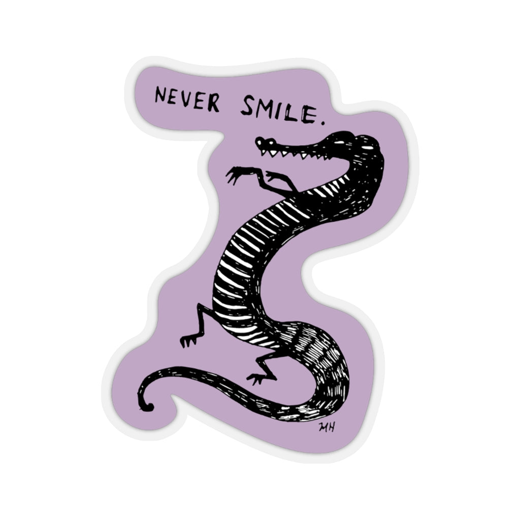 Never Smile - Kiss-Cut Stickers - Plants and Pots Shop