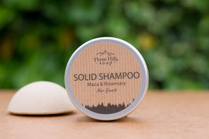 Solid Shampoo for Hair Growth – Maca and Rosemary