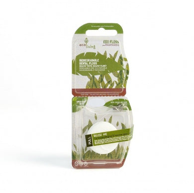 Environmentally friendly dental floss - vegan, single or double pack