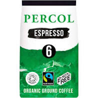 Intense Espresso -  100% Fairtrade, Organic & Plastic Free Ground Coffee