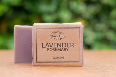 Lavender & Rosemary natural soap bar