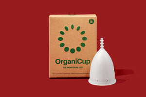 OrganiCup - the menstrual cup that replaces pads and tampons.