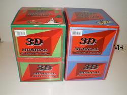 BIRTHDAY CARDS  ASSORTED 3D MUSICAL (20)