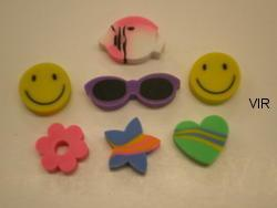 ASSORTED SHAPED ERASERS CODE 054024.