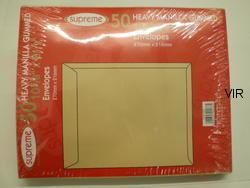 50 SUPREME HEAVY DUTY MANILLA CR35 ENVELOPES 270X216MM
