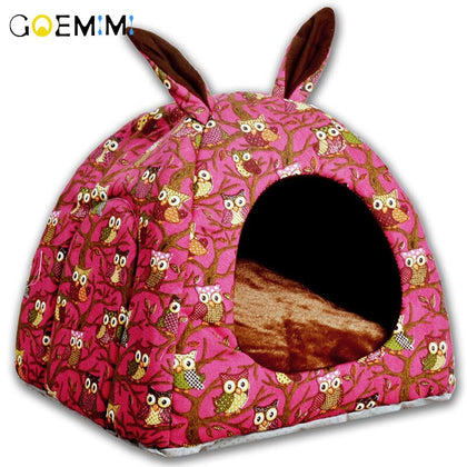 Cat Warm Cave Lovely Rabbit Ears Shape Winter Bed House