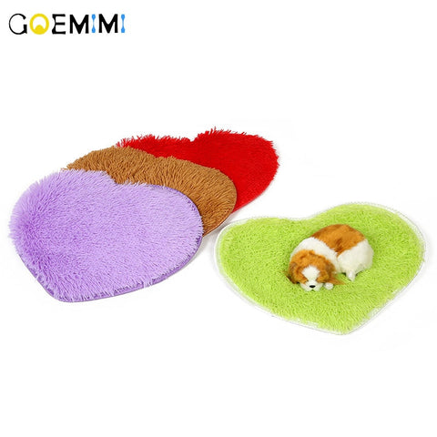 Cushion Fleece Love Heart Shape Bed For Cat Pet  Top Quality Breathable Cat Sleeping Bed