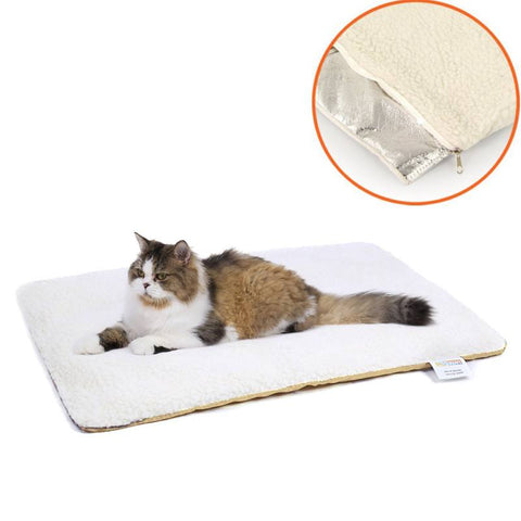 Self Heating Pet Bed Super Soft Fleece Comfortable Mat Pet-Washable Blanket For Cats Dogs