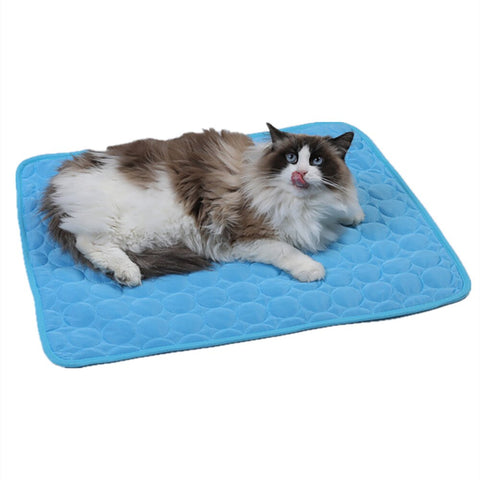 Summer Dog Cat Mat Ice Pad Ice Silk Cool Pet Beds Sofa Dog Mat Cooling Cat Blanket Washable Breathable Pet Bed Widely Use