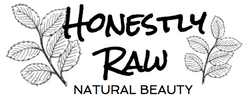 Honestly Raw Beauty logo with leaves