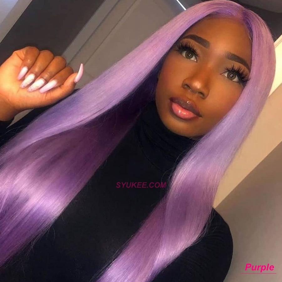 purple lace front wig