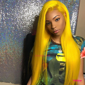 yellow lace front wig