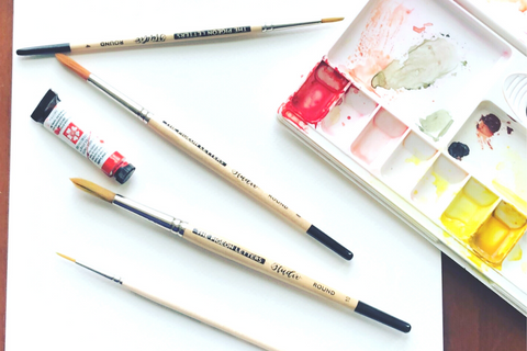 Water coloring for beginners