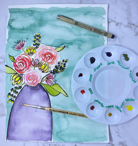Virtual Floral Watercolor Class
