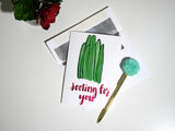 Rooting For You - Succulent Single Card