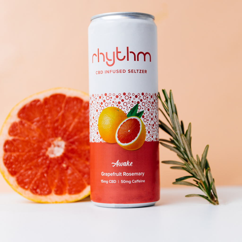 Rhythm Awake CBD Energy Drink Can Front