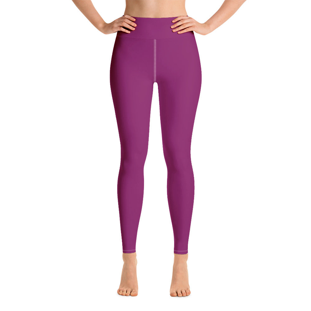 Woman in Rhythm purple yoga leggings