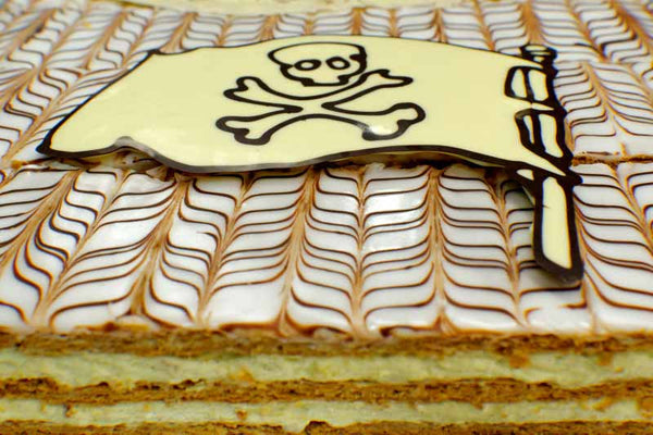 millefeuille birthday cake