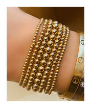 Load image into Gallery viewer, PLAIN YELLOW GOLD-FILLED BEAD BRACELET - MICHAEL K. JEWELERS