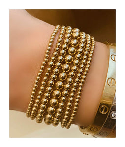 YELLOW GOLD FILLED BEAD BRACELET - MICHAEL K. JEWELERS