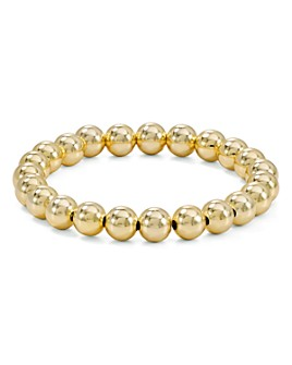10 MM YELLOW GOLD-FILLED BEAD BRACELET - MICHAEL K. JEWELERS