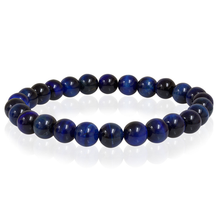 Load image into Gallery viewer, BLUE TIGER EYE BEAD BRACELET - MICHAEL K. JEWELERS