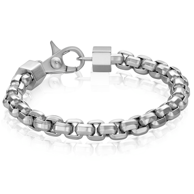 MEN'S SILVER LINK BRACELET - MICHAEL K. JEWELERS
