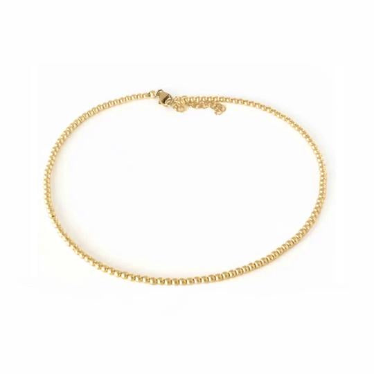 3MM YELLOW GOLD BEAD NECKLACE - MICHAEL K. JEWELERS