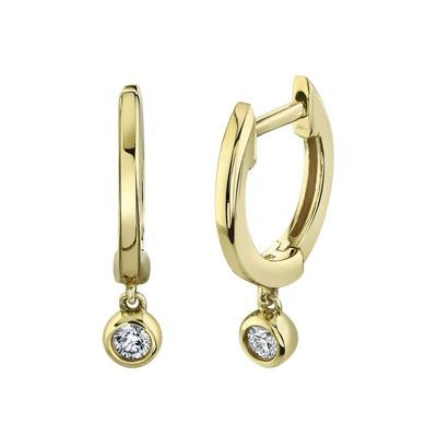 DIAMOND DROP HUGGIE EARRING