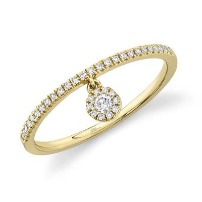 DIAMOND BAND WITH ROUND CHARM