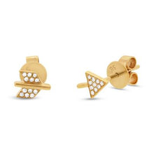 Load image into Gallery viewer, DIAMOND ARROW STUD EARRING